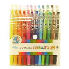 Amazon.com : Pilot FriXion Erasable Gel Ink Pens, 0.7mm, Assorted Colors, 24/Pack (LFP312FN-24C) : Rollerball Pens : Office Products