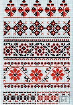 Cat Cross Stitches, Cross Stitch Borders, Cross Stitch Charts, Cross Stitch Designs, Cross Stitching, Cross Stitch Patterns, Folk Embroidery, Cross Stitch Embroidery, Embroidery Patterns