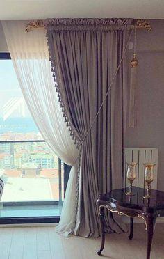 Classic Curtains, Elegant Curtains, Modern Curtains, Luxury Curtains, Home Curtains, Curtains Living, Curtain Styles, Curtain Designs, Thick Curtains