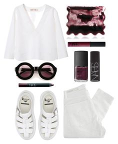 """Untitled #293"" by style-dreams ❤ liked on Polyvore featuring Wildfox, Christopher Kane, NARS Cosmetics, Nobody Denim, Marni and Dr. Martens"