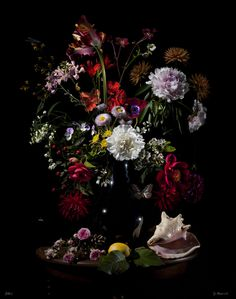floral still life photography by Bas Meeuws, via Behance