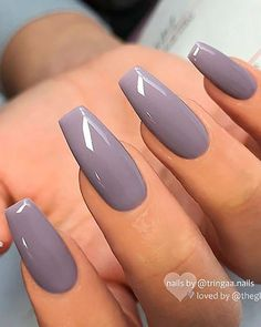 The Best Gray Nail Art Design Ideas Cute grey coffin nails 2019 Nails – acrylic nails – coffin nails – natural nails – Source short nails – christmas nails – matte nails – gel nails Grey Gel Nails, Grey Nail Art, Zebra Nails, Accent Nails, Best Acrylic Nails, Acrylic Nail Designs, Nail Art Designs, Nails Design, Best Nail Art