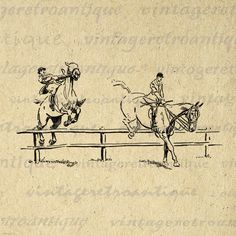 Leaping Horses Graphic Printable Download by VintageRetroAntique