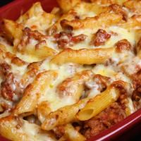 Baked Rigatoni with Meatballs