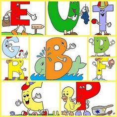 Recursos para el aula: Abecedario Infantil Os dejamos estas simpáticas letras para componer un divertido abecedario infantil. Para hacer carteles, enseñar