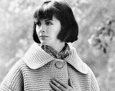 Vintage 70's Crochet Coat  PDF Pattern  INSTANT by KinzieWoolShop
