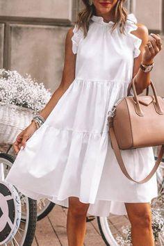 Elegant Summer Dresses, Cute Dresses, Casual Dresses, Fashion Dresses, Ladies Dresses, White Dress Summer, Fashion Hats, Summer Dresses For Women, Modest Fashion