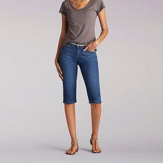 Lee Women's Modern Midrise Maisie Skimmer Capri Pants-Pet::16:P