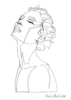 """""""Gaze 219"""", one-continuous-line-drawing by Boris Schmitz, 2015 » click here for my portfolio «"""