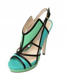 Burak Uyan geometric aqua sandals