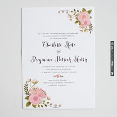 the catherine invitation suite   wedding invitations | the wedding chicks | VIA #WEDDINGPINS.NET