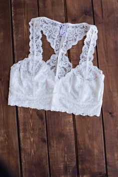 b08e65dbc3 The Essential Racerback Ivory Lace Bralette