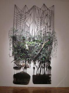 Adriane Colburn, Forest for the Trees, Paper, ink jet prints, aluminium… Man Vs Nature, Human Nature, Art Nature, Protest Art, A Level Art, Environmental Art, Art Plastique, Installation Art, Mixed Media Art