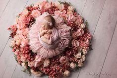 newborn girl flowers fort worth newborn photographer