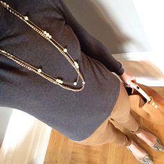 Instagram @headedoutthedoor #ootd    #gap turtleneck sweater   #oldnavy denim and flats   #jcrew bag   #hm necklace