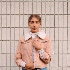 Sally Slim Fit Borg Collar Cord Jacket Credit: Instagram @marlacatherine