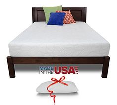 Special Offers - Resort Sleep Queen Size 10 Inch Luxury Memory Foam Mattress Made in USA with Bonus Memory Foam Pillow Queen - In stock & Free Shipping. You can save more money! Check It (September 03 2016 at 09:43PM) >> http://airmattressusa.net/resort-sleep-queen-size-10-inch-luxury-memory-foam-mattress-made-in-usa-with-bonus-memory-foam-pillow-queen/