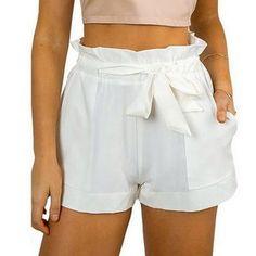 Hot Stylish Women Lady's Sexy Summer Casual Shorts High Waist Short Beach - Mein Stil Bow Shorts, A Line Shorts, Belted Shorts, Loose Shorts, Mini Shorts, High Waisted Shorts, White Shorts, Casual Shorts, Summer Shorts
