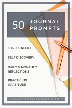 50 journal prompts for stress relief, self-discovery, self-reflection, goal-setting, and practicing gratitude. These journaling questions and prompts help you get in the habit of journaling daily as well as help your mental wellness and personal growth. Anxiety Relief, Stress Relief, Journal Writing Prompts, Journal Ideas, Journal Inspiration, Journal Quotidien, Hardback Notebook, Journal Questions, Dealing With Stress