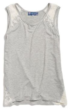 Free shipping and returns on Truly Me Lace Inset Tank (Little Girls & Big Girls) at Nordstrom.com. Lacy insets add a sweet touch to a comfy tank in soft, lightweight jersey.