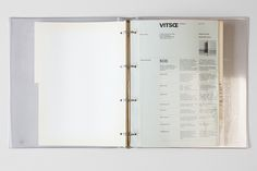 1973: Wolfgang Schmidt's design for a loose-leaf... - Vitsœ