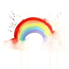 Somewhere over the Rainbow Print Rainbow Quote, Rainbow Print, Rainbow Baby, Over The Rainbow, Rainbow Colors, Rainbow Drawing, Rainbow Painting, Art And Illustration, Watercolor Cards