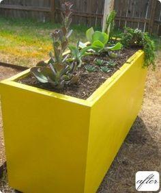 planters - filing cabinet repurposed