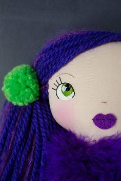 Charlotte handmade OOAK doll art doll cloth doll rag
