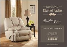 Especial DÍA DEL PADRE: Sillón Reclinable a solo Q.4,078.00 (precio normal Q.7,268.00). *Aplican Restricciones.