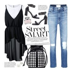 Street Style by beebeely-look on Polyvore featuring Mother, Charlotte Russe, Gucci, StreetStyle, blackandwhite, boyfriendjeans, sammydress and streetwear