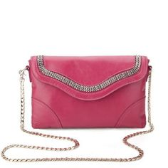 Shoulder diagonal dual-use wave of womens chain bag
