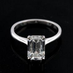 Diamond Emerald Cut Solitaire