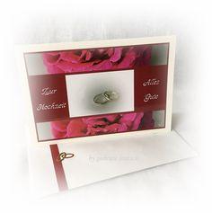 Hochzeitskarten - Karte Hochzeit Vermählung - ein Designerstück von Gabriele-Jentsch bei DaWanda