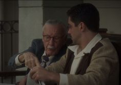 "ep 4 ""The Blitzkrieg Button"" - Stan Lee's cameo. I squealed like a girl!"