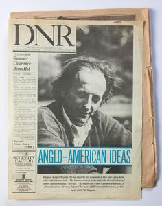 """The American element, to my mind, is the idea of freedom and comfort and functionalism"""", Osti says. Anglo-american Ideas, """"Daily New Records"""", 29 june 1987."""