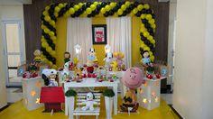 Decoração Snoopy #festasnoopy #decoraçãosnoopy