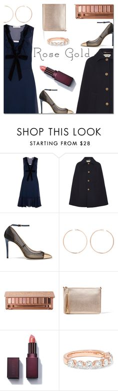 """""""So Pretty: Rose Gold Jewelry"""" by danielle-487 ❤ liked on Polyvore featuring See by Chloé, Yves Saint Laurent, Jimmy Choo, Anita Ko, Urban Decay and rosegold"""