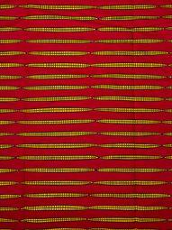 Véritable wax africain d'impression motif crayon doré fond rouge rw1461_1
