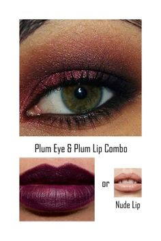 Illustrations on how to coordinate your eye & lip looks. Perfect for holiday parties!