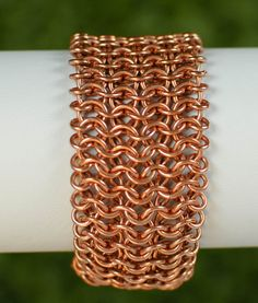 Copper+Chainmaille+Cuff+by+DaisiesChain+on+Etsy,+$30.00