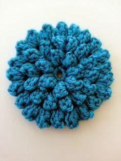 free crochet pattern textured popcorn stitch flower