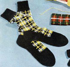 Barclay Tartan Socks - free vintage knit pattern from Tartans, Clark's O.N.T. J. Coats, Book No. 501, in 1951.