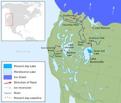 Ice Age Lakes of Western United States: 17,500 Years Before The Present p00pyf4ce:Lake BonnevilleLake Lahontan