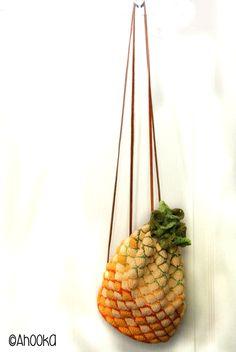 Crocheted Pineapple bag