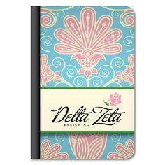 "Delta Zeta ""Floral Print"" iPad Air Leather Protective Case"