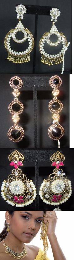 Earrings 98510: Earrings 7316 Golden Assorted Indian Traditional Earrings -> BUY IT NOW ONLY: $33 on eBay!