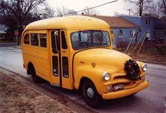 antique school bus