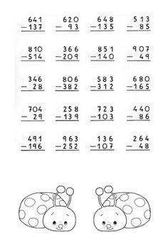 Foto: Restas con llevada-2 2nd Grade Reading Worksheets, Printable Math Worksheets, School Worksheets, Math Exercises, Math Drills, Math Sheets, Math Workbook, Second Grade Math, Homeschool Math