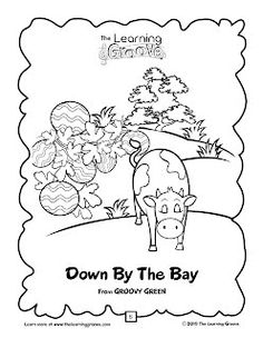 Down By The Bay - TLG Childrens Songs and Activities - This is such a fantastic song to work on rhyming with preschoolers!  Music helps drive home so many different ideas for kids!  See how you can use some of the other songs on this site!