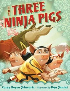 """Book: The Three Ninja Pigs by Corey Rosen Schwarz Genre: Children, Folktales Patience and endurance pay off in this cleverly twisted retelling of the children's classic """"The Three Little Pigs"""". Lea..."""